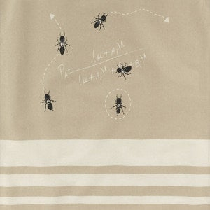 Image of Foraging Ants Organic Cotton Tea Towel by Space 1a