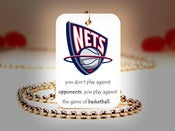 Image of New Jersey Nets NBA Necklace