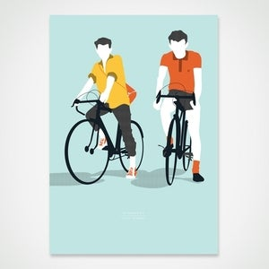 Image of 'Fifty years on, still riding' Boneshaker Artcrank 2012 print