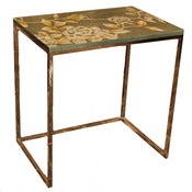 Image of Hand-painted Platinum Side Table