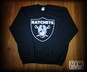 Image of Ratchets Shield Crew Neck (Black) *PRE ORDER*
