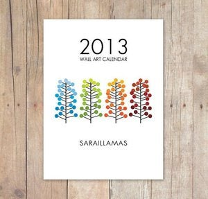 Image of Calendario de Pared Ilustrado 2013 / 2013 Wall Art Calendar