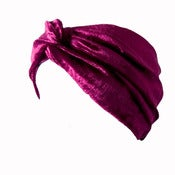 Image of Velvet Turban Headband - Wine