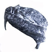 Image of Velvet Turban Headband - Charcoal