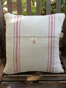 Image of French Inspired Grain Sack Pillow Cover