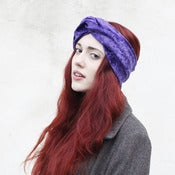 Image of Velvet Turban Headband - Mauve