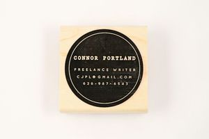 Image of CUSTOM SPOT BUSINESS CARD STAMP