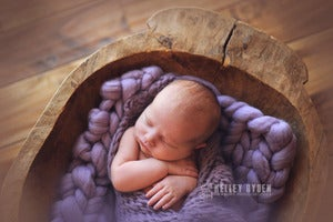 Image of Lilac Big Bump Blanket *Devoted Knits Original*