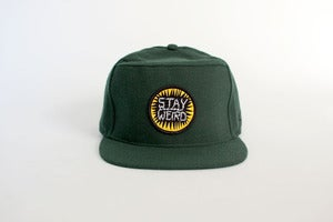 Image of STAY WEIRD Snap Back - Green