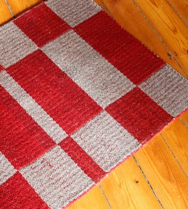 Image of Red Check Rug