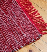 Image of Red Stripe Rug