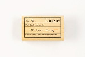 Image of CUSTOM LIBRARY STAMP