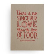 Image of Love of food, print