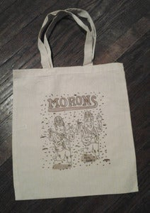 Image of official MORONS book & beer bag!!!!