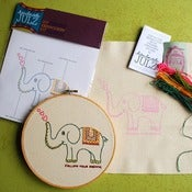 Image of FOLLOW YOUR DREAMS ELEPHANT : DIY EMBROIDERY KIT