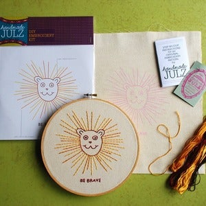 Image of BE BRAVE LION : DIY EMBROIDERY KIT