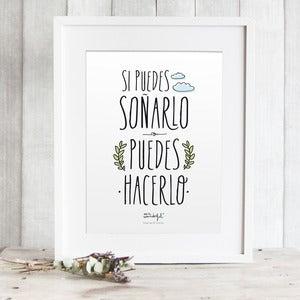 """Image of Lámina """"Si puedes soñarlo, puedes hacerlo"""""""
