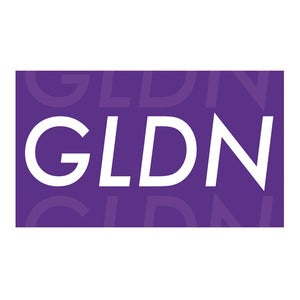 Image of GLDN Box Logo Sticker in Purple