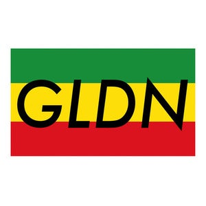 Image of GLDN Box Logo Sticker in RASTA