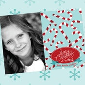 Image of Candy Cane printable Christmas Card