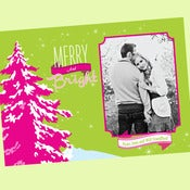 Image of Merry and Bright Neon printable Christmas Card