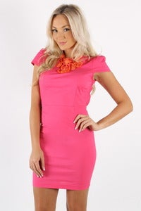 Image of HOT FUCHSIA CHA CHA DRESS 