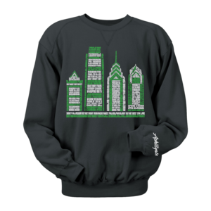 Image of Philly Skyscraper Crewneck (Black)