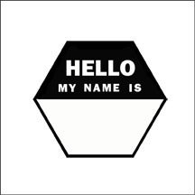 Image of hello hexagon stamp