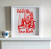 Image of Paint the town red Screen print