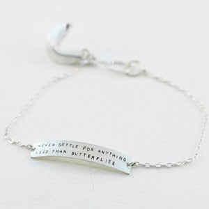 Image of sterling silver fortune cookie bracelet
