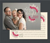 Image of Option 1-Two Sided Custom Designed Christmas Card