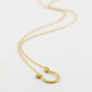 Image of 18k gold vermeil horseshoe necklace