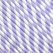 Image of Lilac Striped Paper Straws