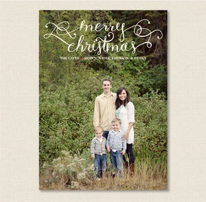 Image of Option 2: One Sided Custom Designed Christmas Card