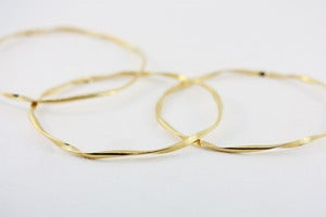 Image of 18k gold vermeil ribbon bangles