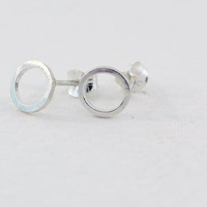 Image of sterling silver karma studs