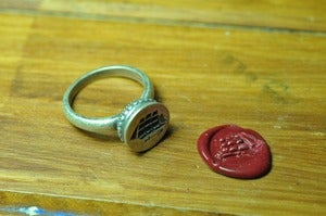 Image of Ship Insignia Wax Seal Ring