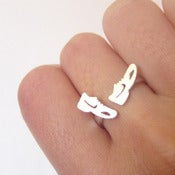 Image of Running Shoes Ring for Runners - Handmade Sterling Silvers