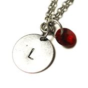 Image of january initial necklace - silver