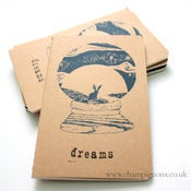 Image of My own little world. Dreaming hare pocket moleskine.