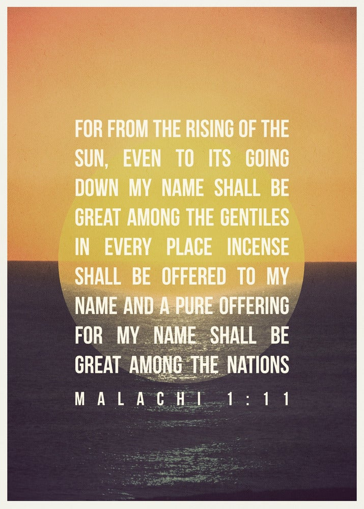 Image of Malachi 1:11