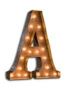 Image of NEW! Rustic Marquee Lights~Letters
