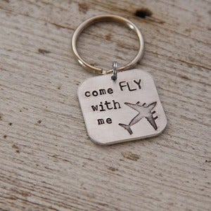 Image of Come Fly With Me keychain