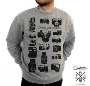Image of Sweatshirt homme Vintage Cameras