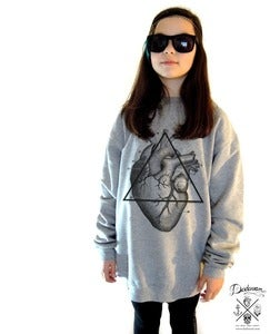 Image of Sweatshirt femme oversized Love will tear us apart