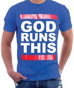 Image of GOD RUNS THIS-royal blue
