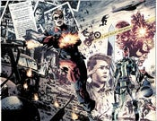 Image of Captain America: Fear Itself Double Page Splash Monoprint
