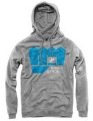 Image of Staten Strong Fist Hoodie ( In Grey and Black)