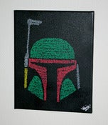 "Image of Toile BOBA ""GRAFFITI"" FETT"