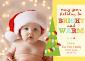 Image of Brightly Trimmed Holiday Card